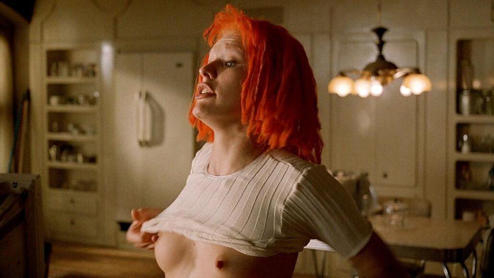 Milla Jovovich nude boobs The Fifth Element 1