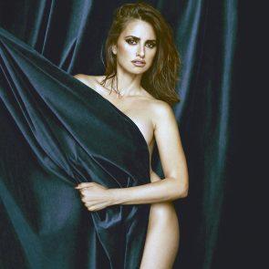 Penelope Cruz Nude behind some curtain