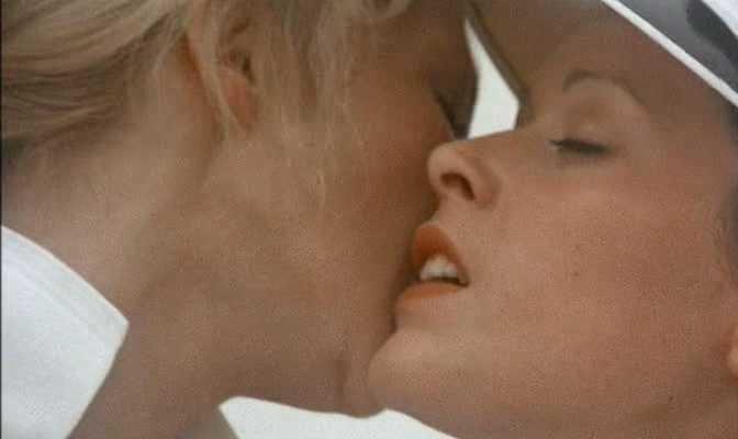 Sylvia Kristel lesbian sex in Emmanuele