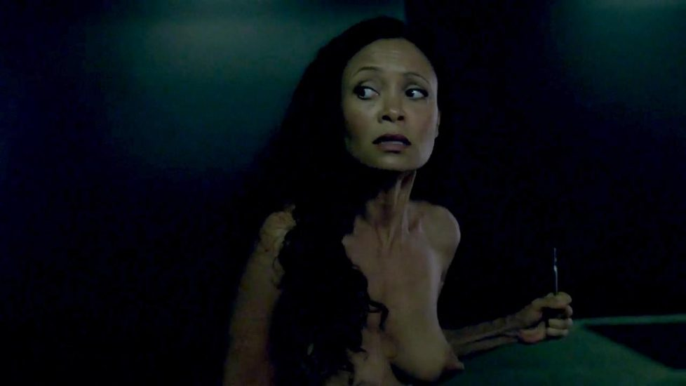 Thandie Newton naked in Westworld - S01E02