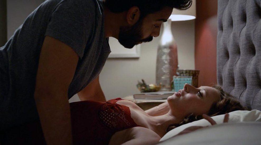 Aly Michalka in a sex scene