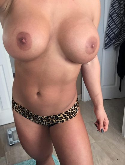 Celeste Bonin leopard panties