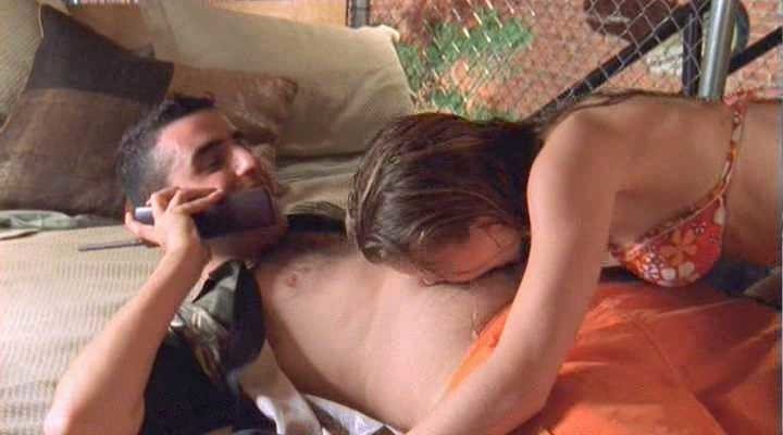 Jennifer Morrison kissing in Big Shot Confessions of a Campus Bookie
