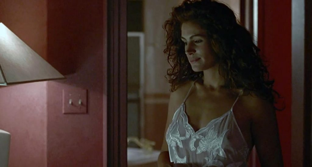 Julia Roberts pokies showing through a nightie