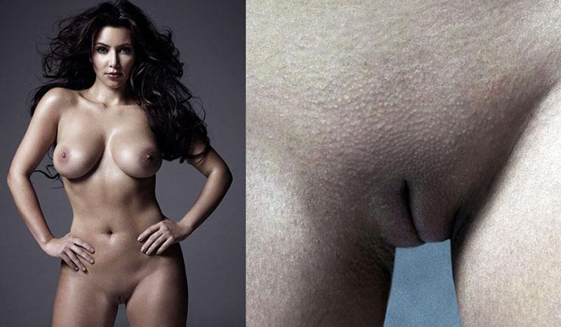 K naked kim Kim Kardashian
